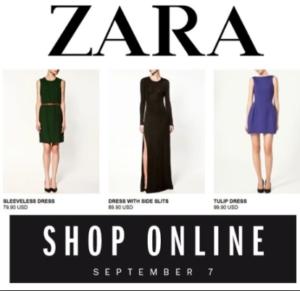 zara online shop