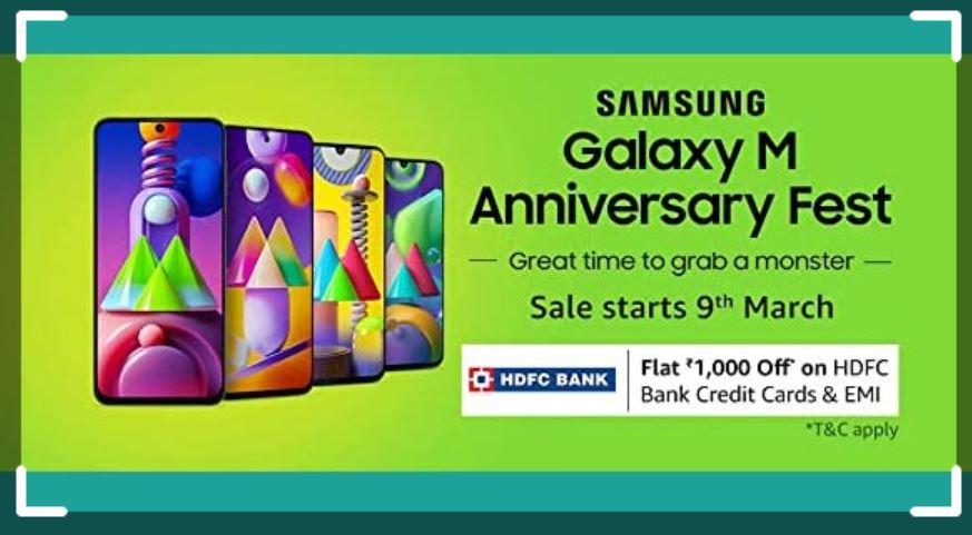 Amazon Samsung Galaxy M Anniversary Sale
